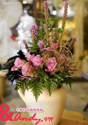 Bình hoa để bàn – Sắc tím
