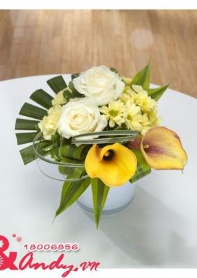 Bình hoa để bàn – đẹp giản dị