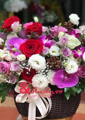 Giỏ hoa : Tận tụy