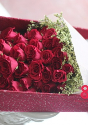 Hộp hoa hồng đỏ