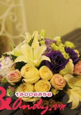 Bình hoa để bàn đẹp