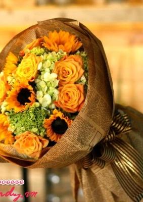Bó hoa đẹp - sắc vàng rực rỡ
