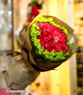 Bó hoa hồng tình yêu : Lãng mạn