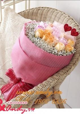 Bó hồng tặng người yêu