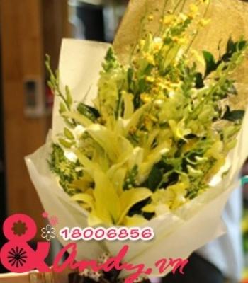 Bó hoa Ly Lan vàng