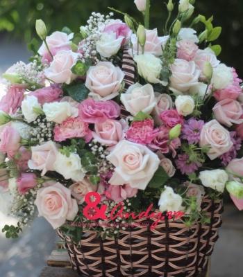 Giỏ hoa đẹp