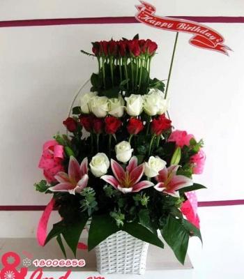 Giỏ hoa hồng đẹp : Sự đoàn kết
