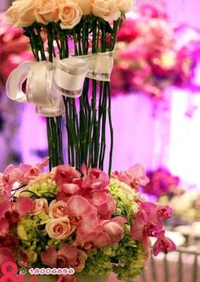 Giỏ hoa lan hồng