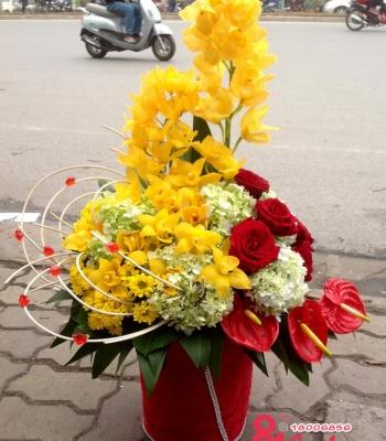 Hoa chúc mừng sang trọng