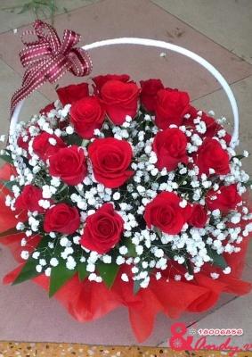 Giỏ hồng tình yêu