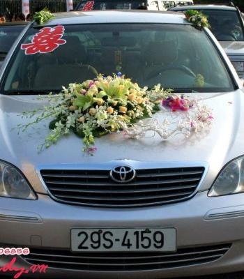 Hoa cưới trang trí xe hoa: 93549