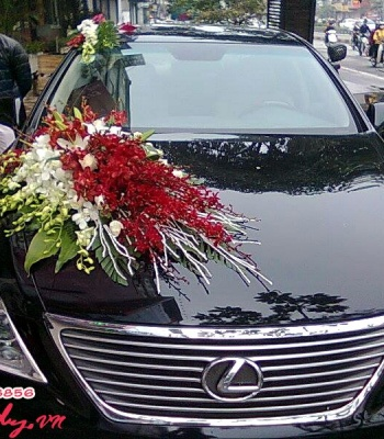 Hoa cưới trang trí xe hoa: 93550