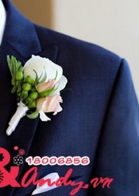 Hoa cưới cài áo: 35478