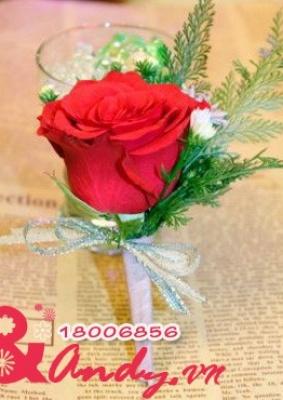 Hoa cưới cài áo: 123479