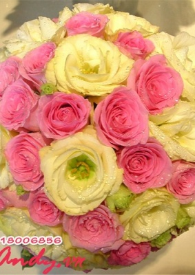 Hoa cưới : Hạnh phúc màu hồng