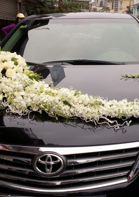 Hoa cưới trang trí xe hoa: 16007