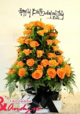 Hộp hoa chúc mừng