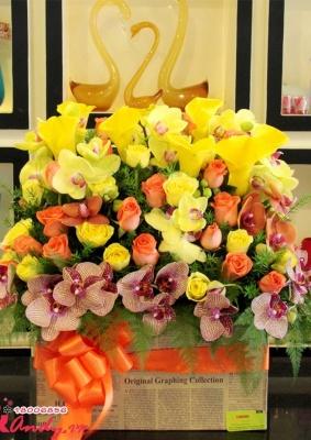 Hộp hoa sang trọng