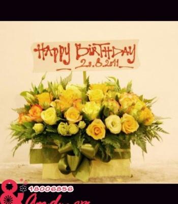 Hoa sinh nhật vợ - Thanh lịch