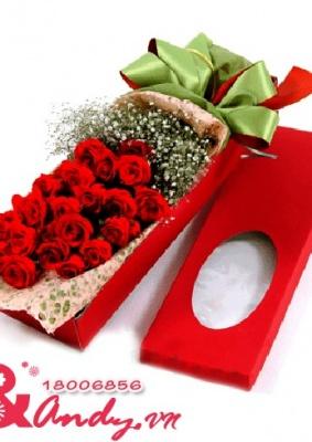 Hộp hoa hồng – Tình yêu
