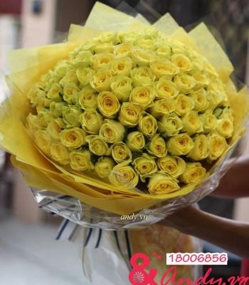 99 bông hoa hồng vàng