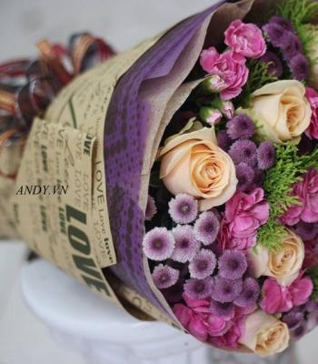 Bó hoa - Lời nhắn nhủ yêu thương