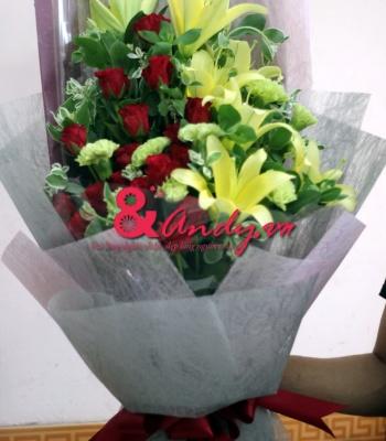Bó hoa Ly hồng
